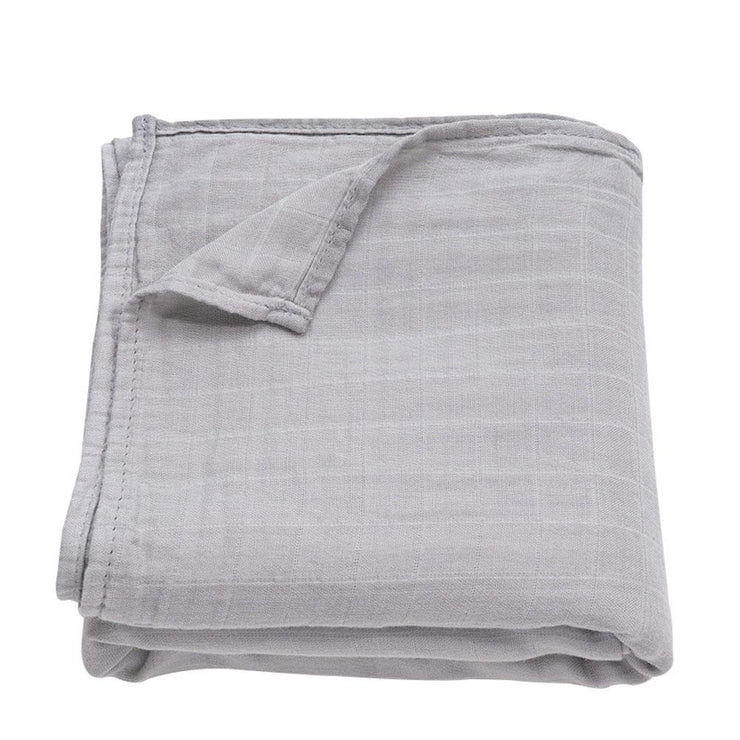Muslin Swaddle Baby Blanket Extra Soft Bamboo & Cotton (Light Grey)