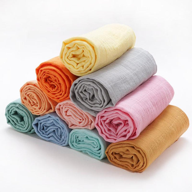 Muslin Swaddle Baby Blanket Extra Soft Bamboo & Cotton multiple colors