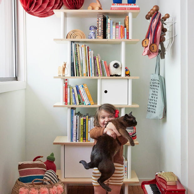 Vertical Mini Bookshelf - Liapela.com | Modern Baby Products