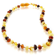 Amber teething necklace for baby and silicone necklace for mom set - Liapela Modern Baby