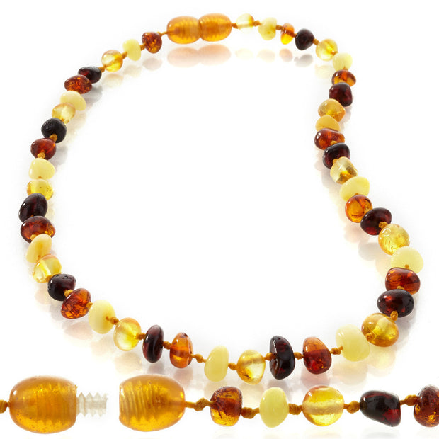 Amber teething necklace for baby and silicone necklace for mom set - Liapela.com | Modern Baby Products
