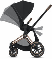Priam 3 Complete Stroller Rose Gold Frame