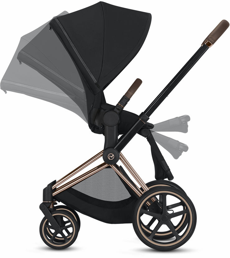 Priam 3 Complete Stroller Chrome/Brown Frame