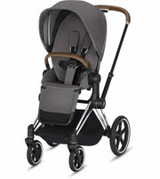 Priam 3 Complete Stroller Chrome/Brown Frame - Liapela.com | Modern Baby Products