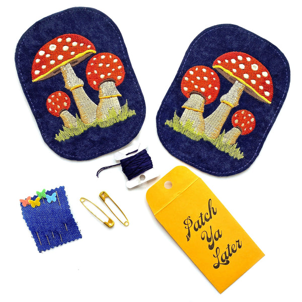 Mushrooms Elbow Patch Set!