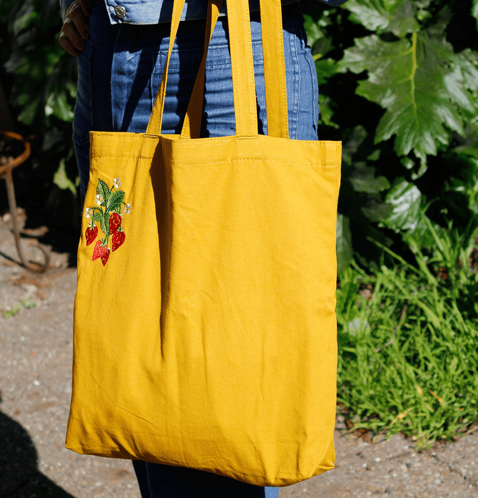 Strawberry Tote - PatchYaLater Tote - patches