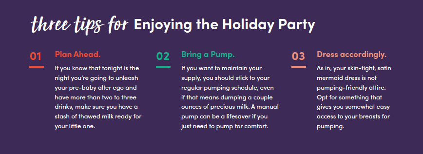 Three tips for enjoying your holiday party.