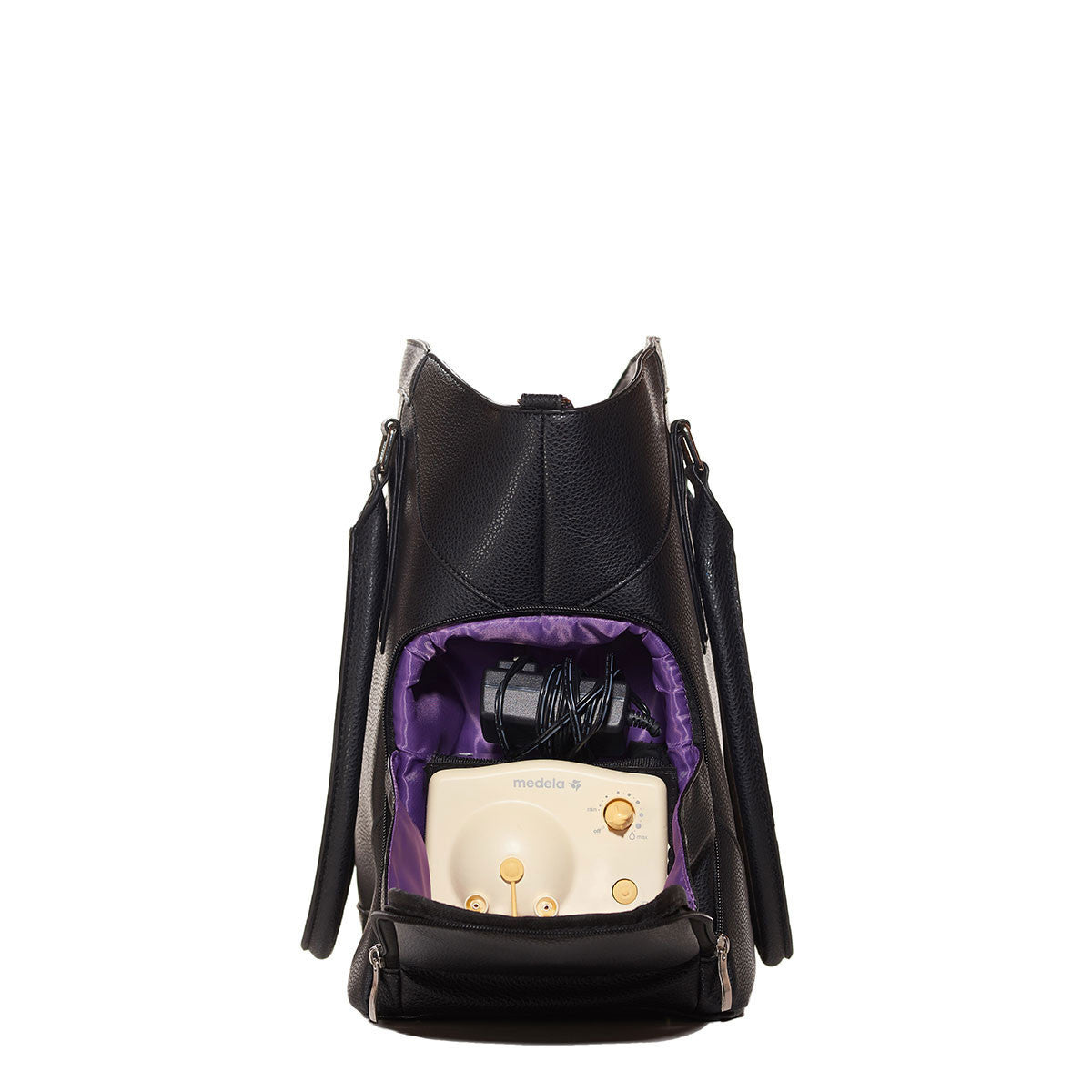Annie (Black) - Breast Pump Bags and Pumping Accessories from Sarah Wells Bags