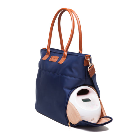 Abby (Navy) - Buy Designer Breast Pump Bags and Coordinating Pumping Accessories from Sarah Wells Bags