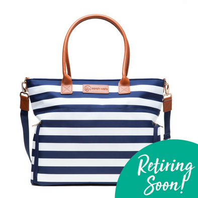 Abby (Navy Stripe) / Breast Pump Bags & Accessories from Sarah Wells