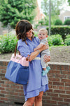Abby (Pink & Navy) - Breast Pump Bags and Pumping Accessories from Sarah Wells Bags