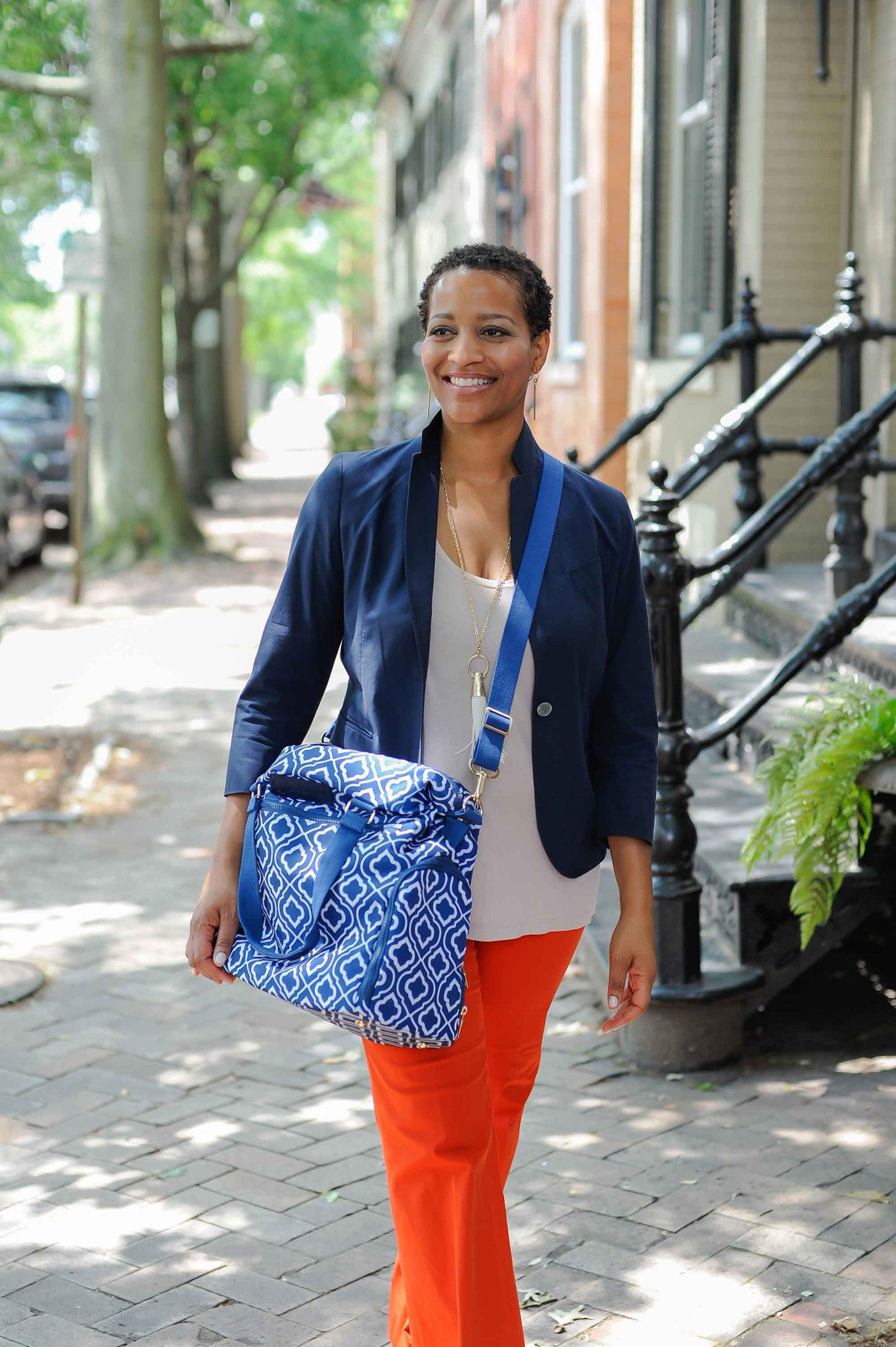 Lizzy (Navy) - Breast Pump Bags and Pumping Accessories from Sarah Wells Bags