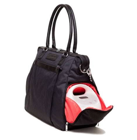 Claire (Black) - Buy Designer Breast Pump Bags and Coordinating Pumping Accessories from Sarah Wells Bags