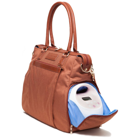 Claire (Brown) - Buy Designer Breast Pump Bags and Coordinating Pumping Accessories from Sarah Wells Bags