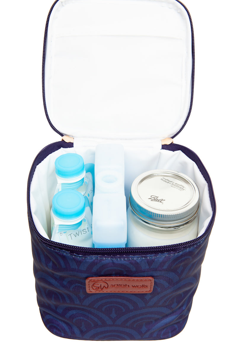 Deco Sarah Wells Cold Gold Breastmilk Cooler Bag with Ice Pack