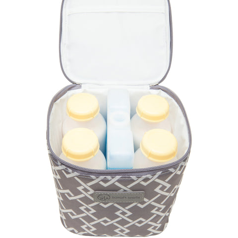 Cold Gold (Gray) - Buy Designer Breast Pump Bags and Coordinating Pumping Accessories from Sarah Wells Bags