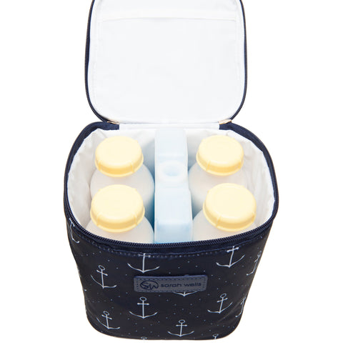 Cold Gold (Anchors) - Buy Designer Breast Pump Bags and Coordinating Pumping Accessories from Sarah Wells Bags