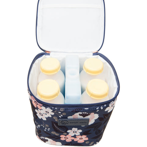 Cold Gold (Le Floral) - Buy Designer Breast Pump Bags and Coordinating Pumping Accessories from Sarah Wells Bags