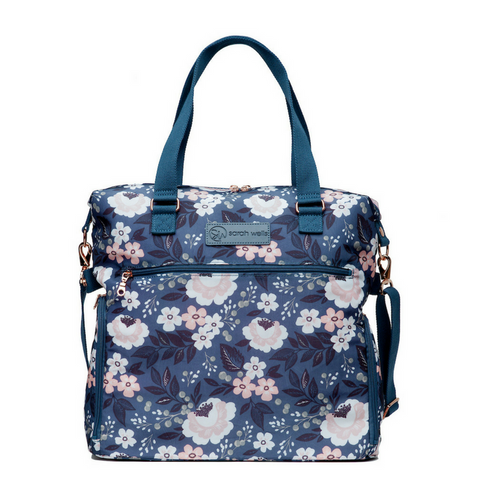 Lizzy (Floral) - Buy Designer Breast Pump Bags and Coordinating Pumping Accessories from Sarah Wells Bags