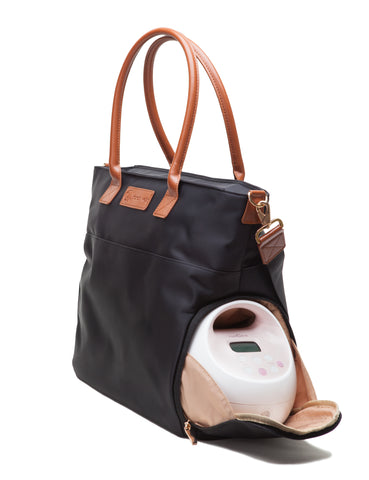 Abby (Black) - Buy Designer Breast Pump Bags and Coordinating Pumping Accessories from Sarah Wells Bags