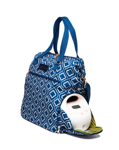 Lizzy (Navy) - Buy Designer Breast Pump Bags and Coordinating Pumping Accessories from Sarah Wells Bags