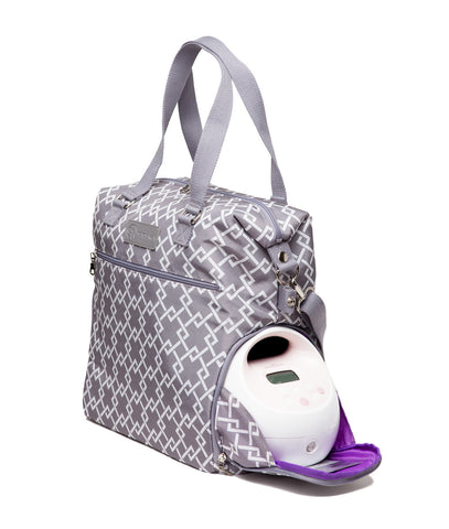 Lizzy (Gray) - Buy Designer Breast Pump Bags and Coordinating Pumping Accessories from Sarah Wells Bags