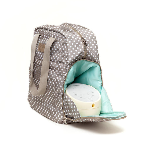 Kelly (Greige) / Breast Pump Bags & Accessories from Sarah Wells - Buy Designer Breast Pump Bags and Coordinating Pumping Accessories from Sarah Wells Bags