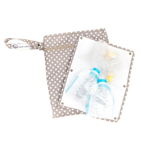 Pumparoo (Greige) / Breast Pump Bags & Accessories from Sarah Wells - Buy Designer Breast Pump Bags and Coordinating Pumping Accessories from Sarah Wells Bags