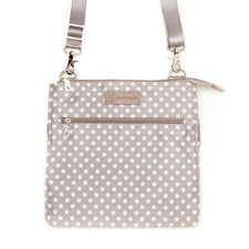 Lizzy (Gray) - Designer Breast Pump Bags and Stylish Pumping Accessories from Sarah Wells Bags
