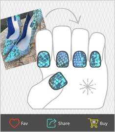 Use the FREE NailSnaps app to turn any photo into custom nail art.