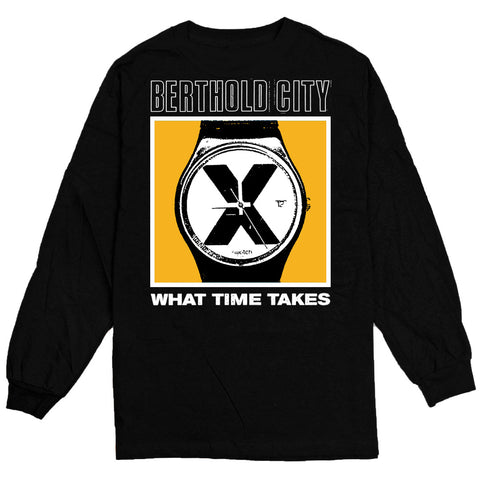 BERTHOLD CITY - WHAT TIMES TAKES BLACK LONG SLEEVE
