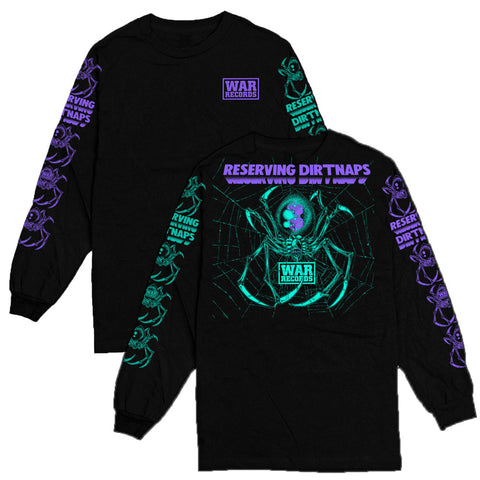RESERVING DIRTNAPS - ANOTHER DISASTER PURPLE/TEAL LONGSLEEVE