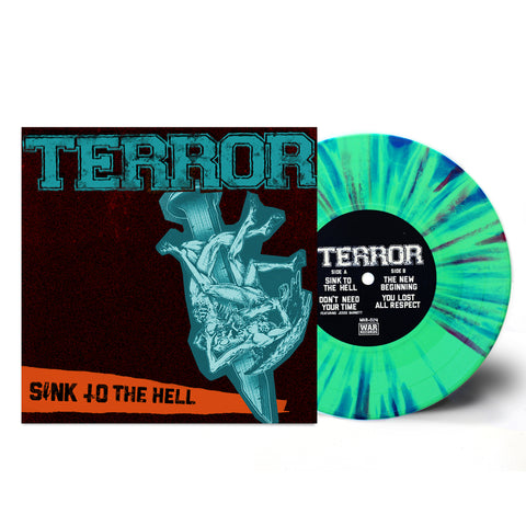 "TERROR - SINK TO THE HELL 7"" GREEN SPLATTER(OUT OF 225)"
