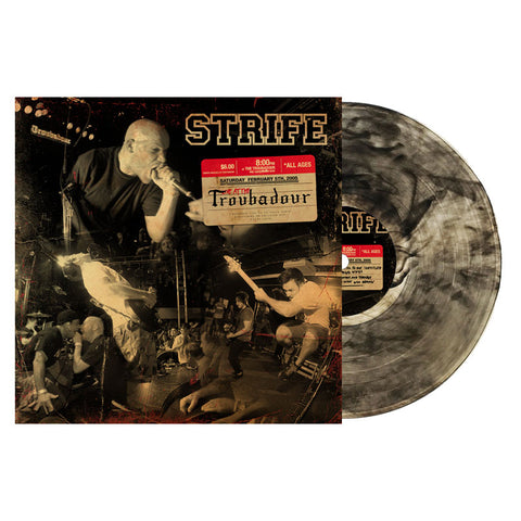 STRIFE - LIVE AT THE TROUBADOUR LP/DVD CLEAR WITH BLACK SMOKE