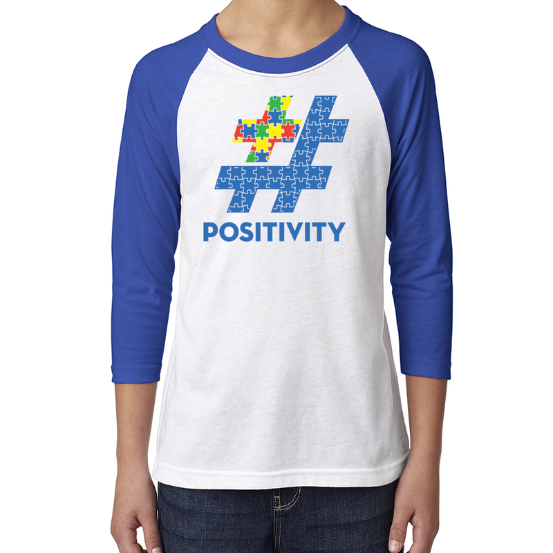 Youth Autism Awareness Baseball Tee