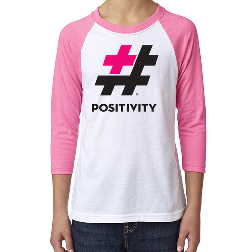 Youth Pink Baseball Tee