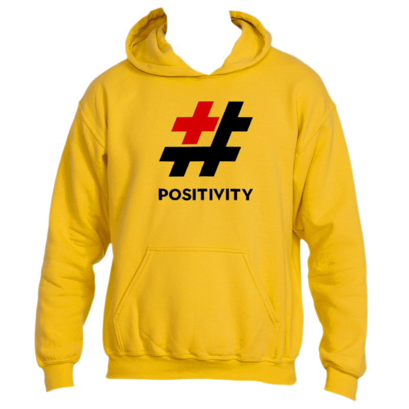 The Golden Hashtag Positivity Hoodie