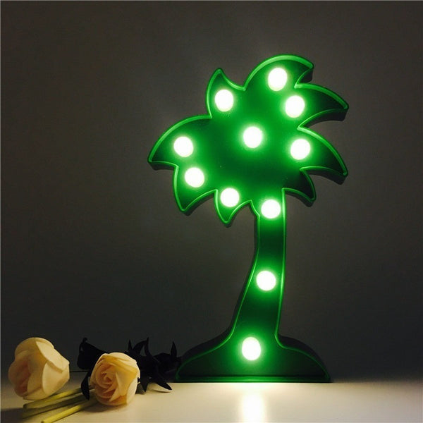 3D Marquee LED Coconut Tree