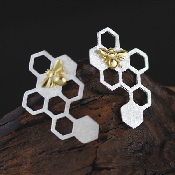 Honeycomb Earrings - Theblingmarket