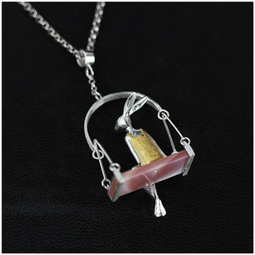 Miss Rabbit Pendant Necklace - Theblingmarket