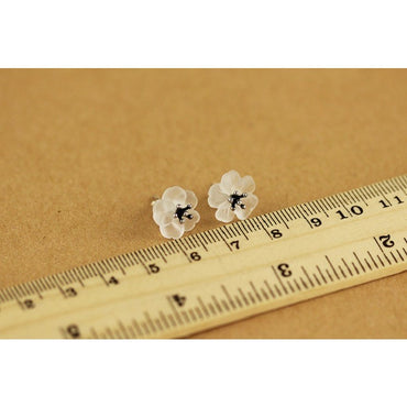 Carmel Flower Stud Earrings - Theblingmarket