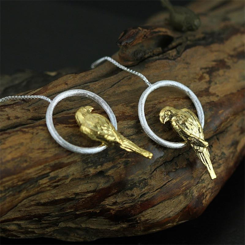 Golden Parrot Earrings - Theblingmarket