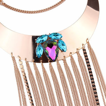 Crystal Layered Necklace - Theblingmarket