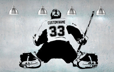 Custom Hockey Goalie Wall Decal - Theblingmarket