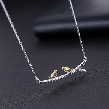 Olive Bird Pendant Necklace - Theblingmarket