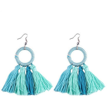 Beach Bonanza Tassel Earrings - Theblingmarket