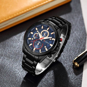 The Black Business Wrist Watch - Theblingmarket