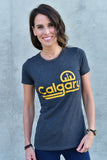 Retro Calgary T-shirt - Womens - Ole Originals Clothing Co.