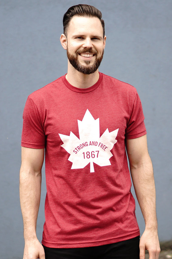 Canada 1867 Strong and Free T-shirt - Ole Originals Clothing Co.