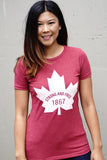 Canada 1867 Strong and Free T-shirt - WOMENS - Ole Originals Clothing Co.